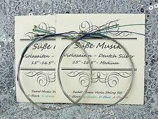 "2 Sets Viola String Set-German Silver C G D A for 15"" - 16.5""  Süße Musik"