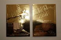 BARRY BONDS 2000 Game Used Bat 23KT Gold Card Feel the Game NM-MT * BOGO *