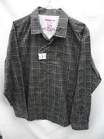 BNWT Mens Sz Large Rivers Brand Grey/Print Long Sleeve Slim Fit Shirt RRP $40