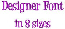 Designer Font Machine Embroidery Designs on CD in 8 sizes for total 632 files