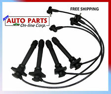 SPARK PLUG WIRES COROLLA CELICA 93-97 L4 1.6L 1.8L 5.0mm MADE IN USA 4AFE DOHC