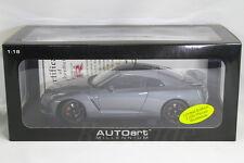 Auto art 1/18 NISSAN R35 GT-R Gray / Matt Black Wheels AUTOart 2000pcs LIMITED