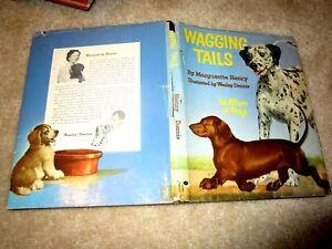 1955 1st HC/DJ WAGGING TAILS Album 26 Dogs Marguerite Henry & Wesley Dennis