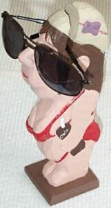 Peepers Beach Gal Eyeglass/Sunglass Holder Stand Hand Carved&Painted Wood Sculpt