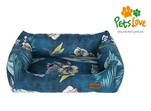 Luxury Washable Dog Bed Upholstery Fabric Reversible Comfy Cushion Medium-Large