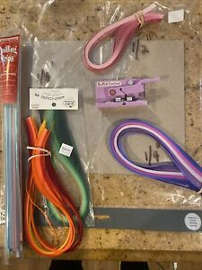 Lot Of Quilling Paper & Quilled Creations Fringer