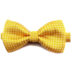 Cool Kids Boys Polka Dot Bow Tie Butterfly Wedding Party Pet Bowtie Tuxedo Ties