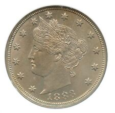 1883 With Cents, Liberty Nickel, NGC MS 65