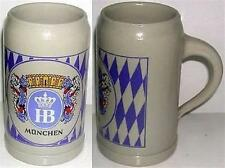 BEER MUG CERAMIC HB Hofbräuhaus MUNICH GERMANY OVERSIZE