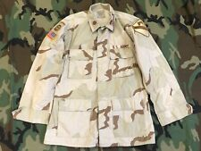 US ARMY DESERT CAMO BDU SHIRT OIF MAJOR 82nd Airborne Patch IN Country MADE