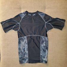Men's Golds Gym Black Short Sleeve Shirt Size Small Polyester/Spandex Blend
