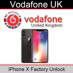 Vodafone UK iPhone X Factory Unlocking Service