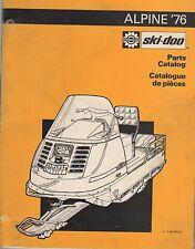 1976 SKI-DOO ALPINE SNOWMOBILE PARTS MANUAL P/N 480 1033 00 (354)