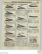 1919 PAPER AD HSB Hibbard Straight Razor Roxo Golden Rod Our Daisy Hollow Point