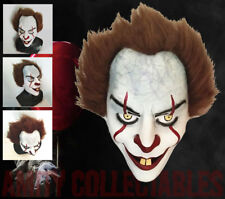 2017 IT PENNYWISE THE CLOWN Deluxe Adult Horror Overhead Latex Mask Halloween