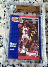 MICHAEL JORDAN 1991 FLEER Leaders BGS 9.5 GEM MINT Bulls HOF 6 x Champion MVP $$