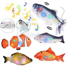 USB Flippity Fish Cat Toy Electric Moving Fish Pet Toy Colorful Light+Music
