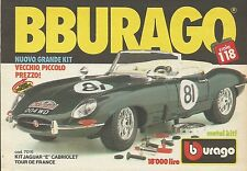 X1222 Kit Jaguar Cabriolet - BBURAGO - Pubblicità 1988 - Advertising