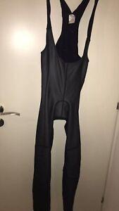 Gore Bike Wear Windstopper Cycling Men's Winter Black Bib Tights Pants size L 42