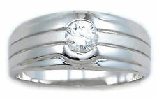 Sterling Silver Men's Solitare Briolite Ring SZ 12