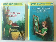 Nancy Drew #3 The Bungalow Mystery & #32 Scarlet Slipper Flashlight Editions Lot