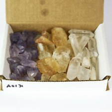 Crystal Collection 1.0lb Lb Lots Natural Points & Blades Amethyst Quartz Citrine