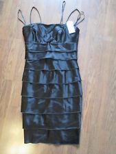 NWT Women's Calvin Klein Black Evening Dress Layered Size 8 Cocktail