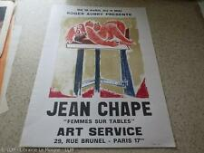 1975.affiche exposition Jean Georges Chape (lithographie).