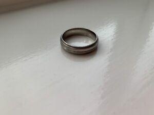 palladium Mens wedding ring