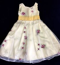 Carpatina YELLOW ROSES Holiday PARTY DRESS for American Girl or 18 inch Dolls