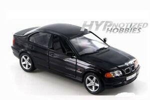 WELLY 1:24 1998 BMW 328I DIE-CAST BLACK 9395 N/B*