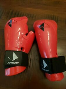 Century Martial Arts Sparring Gloves Red Youth New Karate Tae Kwon Do