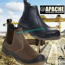 Apache Safety Dealer Chelsea Work Boots Safety Boots Steel Toe Cap (AP714-AP715)