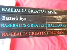 NEW...Set of 4 BASEBALL Books-Greatest MVPs-Batter's Eye-Ballparks-Pennant  SALE