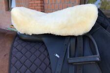 Genuine sheepskin English style horse saddle cover - Super soft wool - L size Us