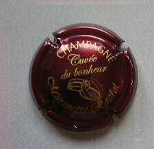 capsule champagne RACLOT MARINETTE cuvée du bonheur marron et or