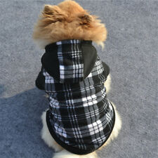 Black and white Fleece dog coat  xsmall -small dog / puppy uk seller