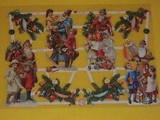 1x Poesiebilder Oblaten 385 Weihnachtsmann Weihnachten kinder Glanzbilder