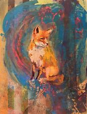 Fox, Original Mixed Media Painting