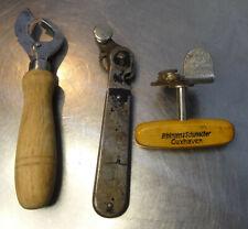antique can opener 3 antike Dosen Öffner DRP Monopol DRGM Sieger made in Germany