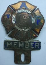 Vintage License Plate Topper IAF AFL International Association of Fire Fighters
