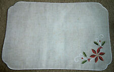 Lenox FRENCH PERLE POINSETTIA Placemats #7439~Embroidered~Multiple Available~NEW