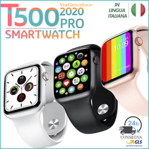 SMARTWATCH OROLOGIO IN ITALIANO T500 ANDROID IOS UOMO SATURIMETRO DONNA SPORT X6