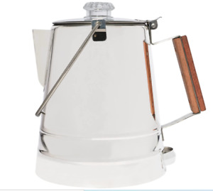 COLETTI Butte Camping Coffee Pot | Campfire Coffee Pot | Stainless Steel Coffee