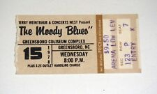 Greensboro 1978 Original The Moody Blues Concert Ticket Stub Free Shipping