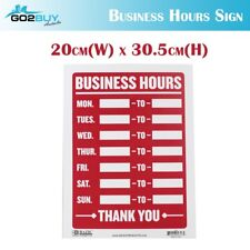 Business Hours Sign Cafe Restaurant Shop Window Open Close Hours Plastic Sign