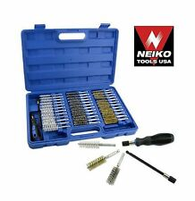 NEIKO 00325A - 38 Piece Wire Brush set Industrial Quality with case - New