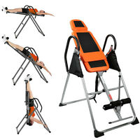 Fitness Inversion Table Deluxe Exercise Chiropractic Gravity Back Pain Relief