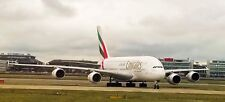 Emirates Airbus A380-800 at London Heathrow Airport