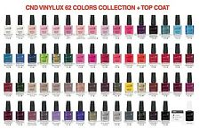 CND VINYLUX Weekly Polish Collection SET OF 62 Color FREE Top Coat WHOLE KIT LOT